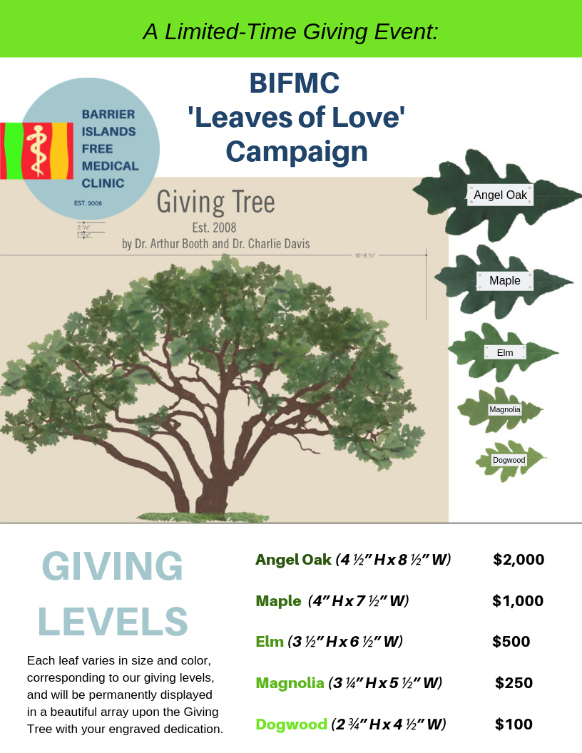 Leaves Of Love Campaign - Barrier Islands Free Medical Clinic